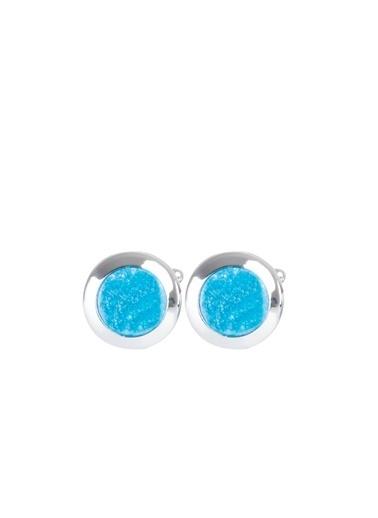Kiğılı Kol Düğmesi Mavi